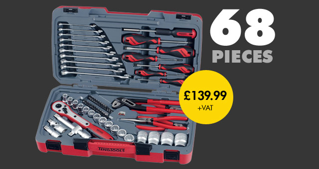 Teng Tools 68 Piece 1/2in Drive Tool Kit T1268
